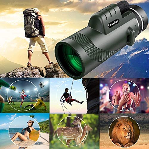 51Y8stNOzkL. AC  - Pankoo 40X60 Monocular High Power Monocular Scope for Bird Watching Traveling Concert Sports Game with Phone Adapter Tripod