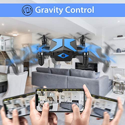 51YJtRtp8eL. AC  - Drone with Camera Drones for Kids Beginners, RC Quadcopter with App FPV Video, Voice Control, Altitude Hold, Headless Mode, Trajectory Flight, Foldable Kids Drone Boys Gifts Girls Toys-Light Blue