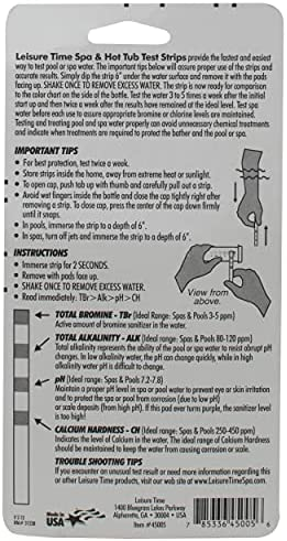51bLWm+w8eS. AC  - Leisure Time 45005A Spa & Hot Tub Test Strips 4-Way Bromine Testers, 50 ct