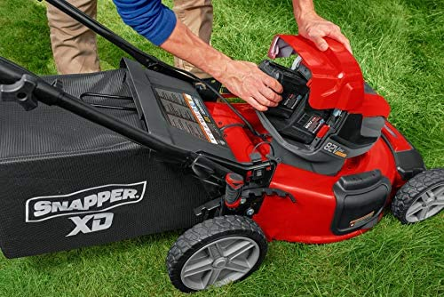 51bPeeEWmeL. AC  - Snapper XD 82V MAX Step Sense Cordless Electric 21-Inch Lawn Mower Kit with (2) 2.0 Batteries and (1) Rapid Charger