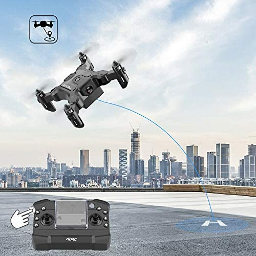 51cSlpuPJiL. AC  - 4DRC V2 Foldable Mini Nano Drone for Kids Beginners Gift,Pocket RC Quadcopter with 3 Batteries,Altitude Hold, Headless Mode, 3D Flips, One Key Return, 3 Speed Modes, Easy Fly for Beginners Boys Girls