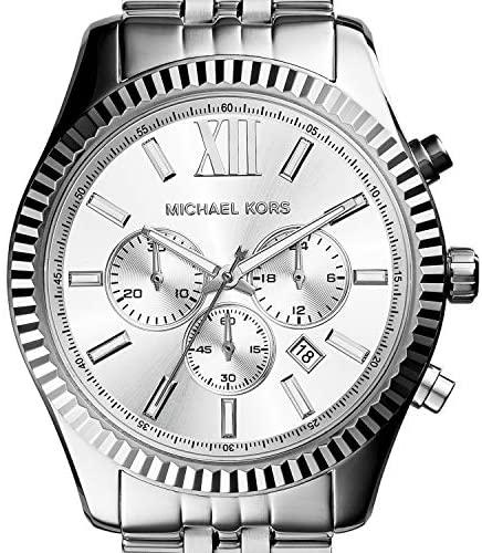 51d 4rOybKL. AC  - Michael Kors Lexington Chronograph Stainless Steel Watch