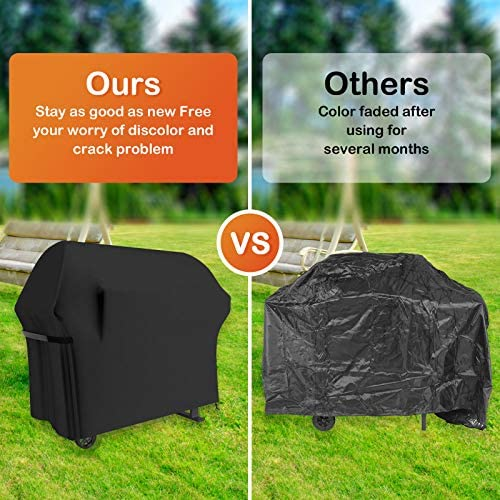 51ei1M3NpLL. AC  - Grill Cover 58 Inch BBQ Grill Cover Waterproof Gas Grill Covers, Heavy Duty Patio Outdoor Barbecue Grill Cover, Dustproof Windproof Anti UV and Tear Resistant