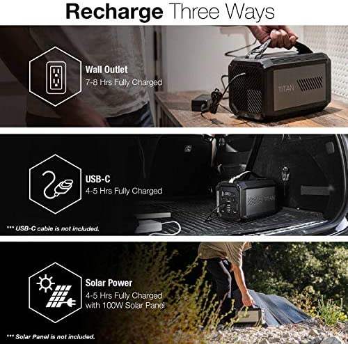 51en5ydcsTL. AC  - X-Doria Raptic Titan Portable Power Station (Formerly Defense Titan), 225Wh Backup Lithium Battery, Generator for Outdoors Camping Festivals Travel Emergency