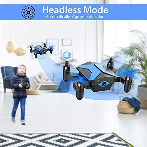 51hYzdFGH0L. AC  - Drone with Camera Drones for Kids Beginners, RC Quadcopter with App FPV Video, Voice Control, Altitude Hold, Headless Mode, Trajectory Flight, Foldable Kids Drone Boys Gifts Girls Toys-Light Blue