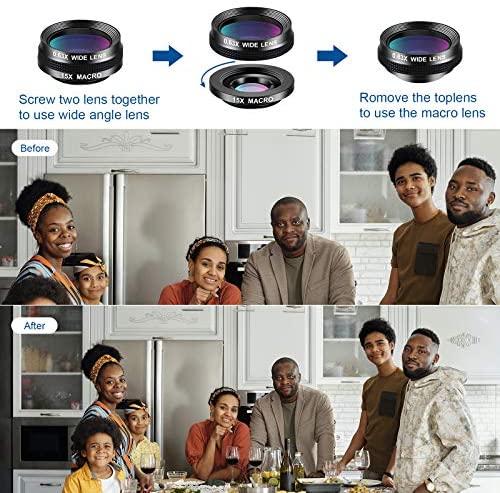51jV9LJQXbL. AC  - LIGINN 7 in 1 Phone Camera Lens Kit Wide Angle Lens & Macro +Fisheye Lens +2X Telephoto Zoom Lens+Kaleidoscope/CPL+ND Radial Filter for iPhone Smartphones/Pixel/Samsung/Android Phones Camera