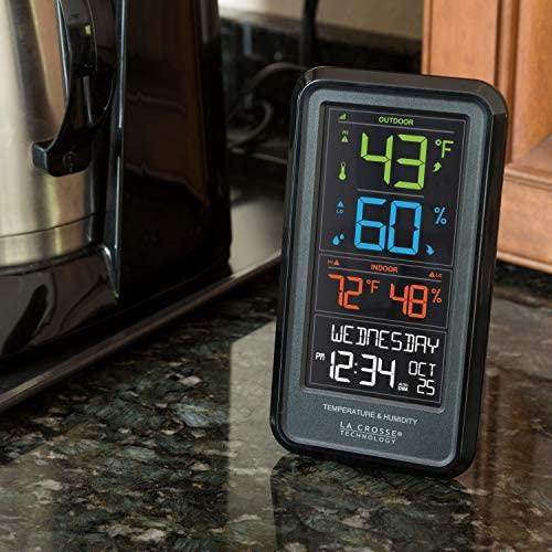 51jjNUwt+JL. AC  - La Crosse Technology S82967-INT Wireless Digital Personal Weather Station, Black