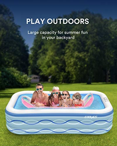 """51lBw4FZz+L. AC  - COOYES Inflatable Pool, Swimming Pool for Kids 118"""" X 72"""" X 20"""" Full-Sized Inflatable Kiddie Pool for Outdoor, Garden, Summer Water Party"""