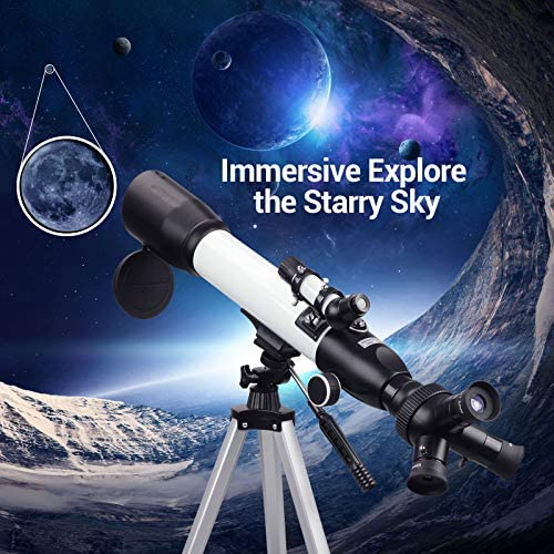 51lWqyLA96L. AC  - [Upgraded] Telescope, Astronomy Telescope for Adults, 60mm Aperture 500mm AZ Mount Astronomical Refracting Telescope for Kids Beginners with Adjustable Tripod, Phone Adapter, Nylon Bag