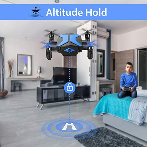 51nuLvrkPUL. AC  - Drone with Camera Drones for Kids Beginners, RC Quadcopter with App FPV Video, Voice Control, Altitude Hold, Headless Mode, Trajectory Flight, Foldable Kids Drone Boys Gifts Girls Toys-Light Blue