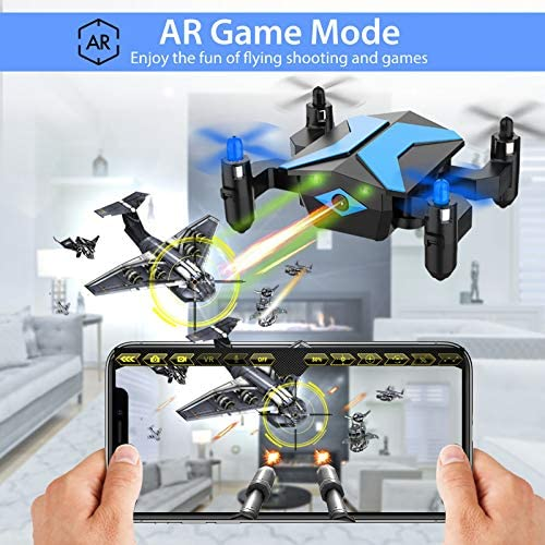 51pa4jbUbTL. AC  - Drone with Camera Drones for Kids Beginners, RC Quadcopter with App FPV Video, Voice Control, Altitude Hold, Headless Mode, Trajectory Flight, Foldable Kids Drone Boys Gifts Girls Toys-Light Blue