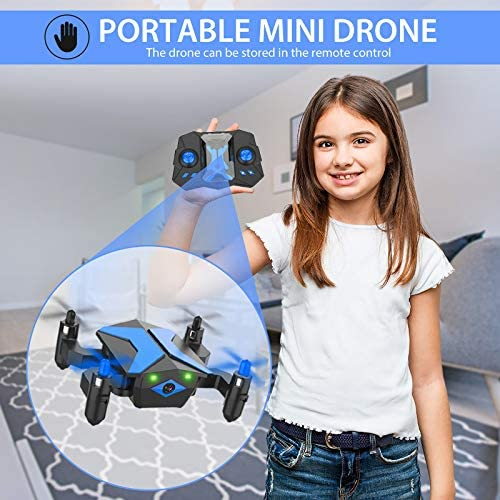 51qsBLn0iIL. AC  - Drone with Camera Drones for Kids Beginners, RC Quadcopter with App FPV Video, Voice Control, Altitude Hold, Headless Mode, Trajectory Flight, Foldable Kids Drone Boys Gifts Girls Toys-Light Blue