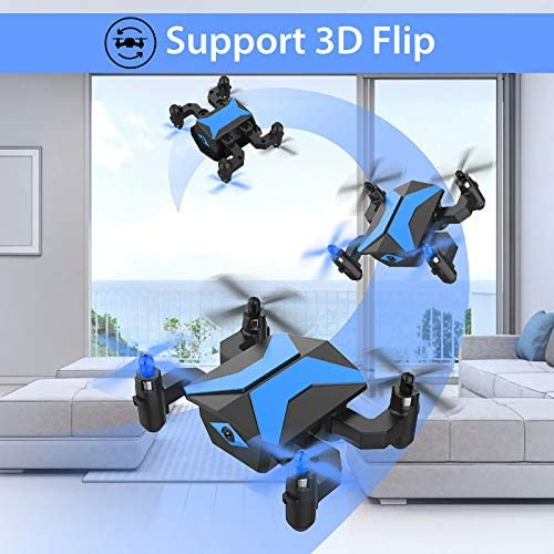 51roS3dukwL. AC  - Drone with Camera Drones for Kids Beginners, RC Quadcopter with App FPV Video, Voice Control, Altitude Hold, Headless Mode, Trajectory Flight, Foldable Kids Drone Boys Gifts Girls Toys-Light Blue