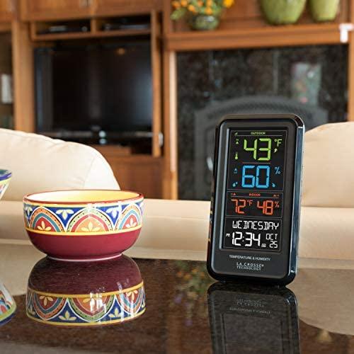 51wEprbkzfL. AC  - La Crosse Technology S82967-INT Wireless Digital Personal Weather Station, Black