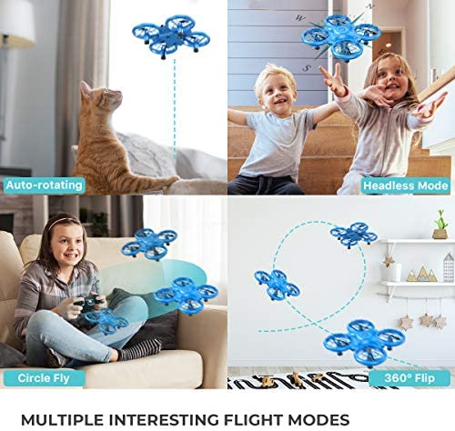 51woC52ruyL. AC  - Dragon Touch DK01 Mini Drones for Kids, Multiple Remote Controls-Hand Operated RC Quadcopter, G-Sensor Mode, 3D Flips, Altitude Hold, Headless Mode, One Key Return&Speed Adjustment