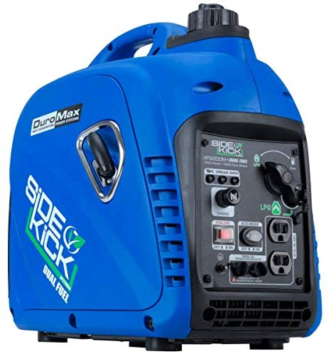 51wyYDVBWZL. AC  - DuroMax XP2200EH Dual Fuel Portable Inverter Generator-2200 Watt Gas or Propane Powered Tailgate, Camping & RV Ready, 50 State Approved, Blue