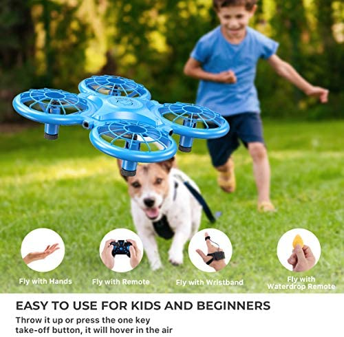 51yK017to3L. AC  - Dragon Touch DK01 Mini Drones for Kids, Multiple Remote Controls-Hand Operated RC Quadcopter, G-Sensor Mode, 3D Flips, Altitude Hold, Headless Mode, One Key Return&Speed Adjustment