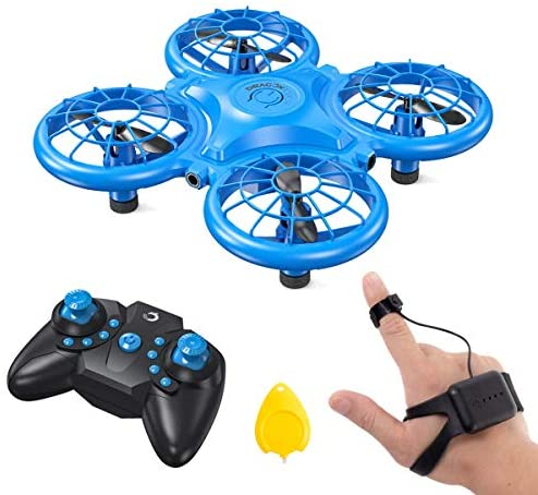51yQ3uJZACL. AC  - Dragon Touch DK01 Mini Drones for Kids, Multiple Remote Controls-Hand Operated RC Quadcopter, G-Sensor Mode, 3D Flips, Altitude Hold, Headless Mode, One Key Return&Speed Adjustment