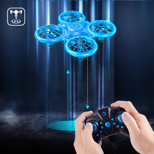 53dfb4b5 4986 43c8 87f3 8e8551348408.  CR0,0,300,300 PT0 SX300 V1    - Dragon Touch DK01 Mini Drones for Kids, Multiple Remote Controls-Hand Operated RC Quadcopter, G-Sensor Mode, 3D Flips, Altitude Hold, Headless Mode, One Key Return&Speed Adjustment