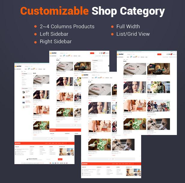 6 customizable shop category - eMarket - Multi Vendor MarketPlace Elementor WordPress Theme (34+ Homepages & 3 Mobile Layouts)