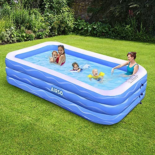 """61s DYDagIS. AC  - Inflatable Swimming Pool Family Full-Sized Inflatable Pools 118"""" x 72"""" x 22"""" Thickened Family Lounge Pool for Toddlers, Kids & Adults Oversized Kiddie Pool Outdoor Blow Up Pool for Backyard, Garden"""
