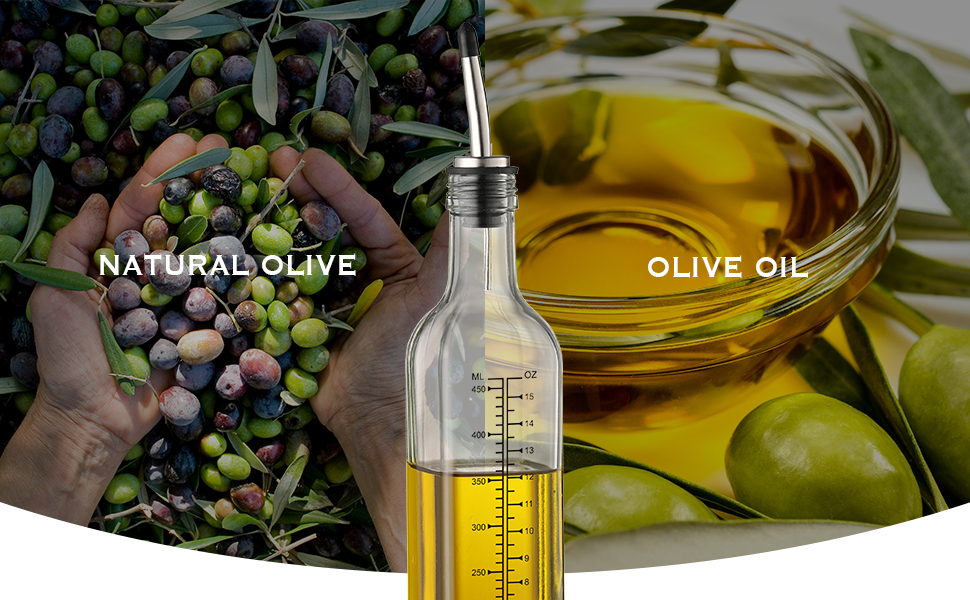 65b8f949 f854 4089 a102 b8b8d6d56fee.  CR0,0,970,600 PT0 SX970 V1    - Aozita 17oz Glass Olive Oil Dispenser Bottle - 500ml Clear -Oil & Vinegar Cruet with Pourers and Funnel - Olive Oil Carafe Decanter for Kitchen