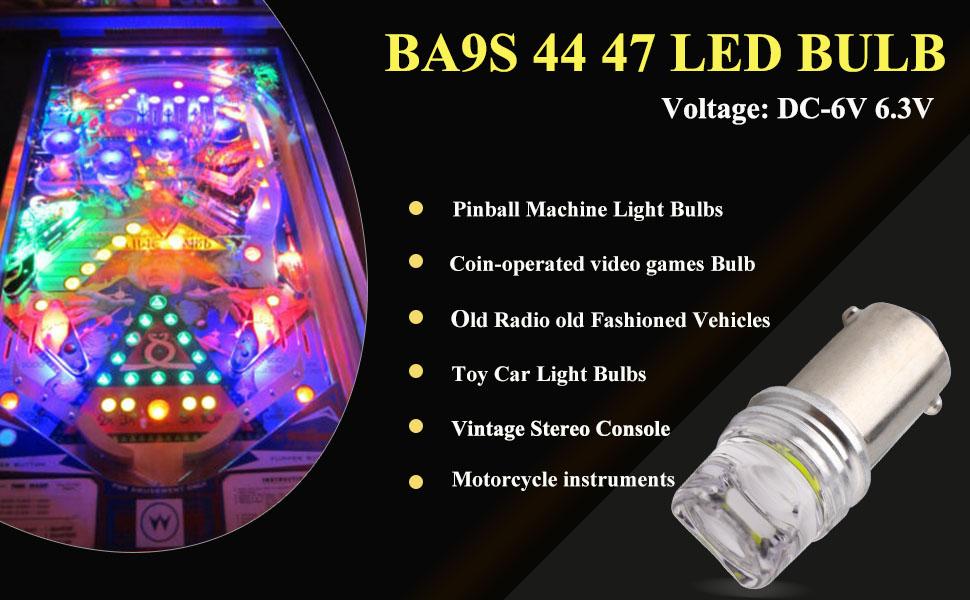 69742a0b cd56 4848 9c69 85885b05c553.  CR0,0,970,600 PT0 SX970 V1    - EverBright Pack of 15 BA9S 44 47 755 756 1847 1895 Bulb 6V 6.3V Bayonet Led Bulb for Pinball Led Bulbs Pinall Machine Light Bulb Lamp, White