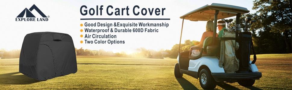 6fc62bcf d8b1 4551 815e 23c13e82a553.  CR0,0,970,300 PT0 SX970 V1    - Explore Land 600D Waterproof Golf Cart Cover Universal Fits for Most Brand 4 Passenger Golf Cart
