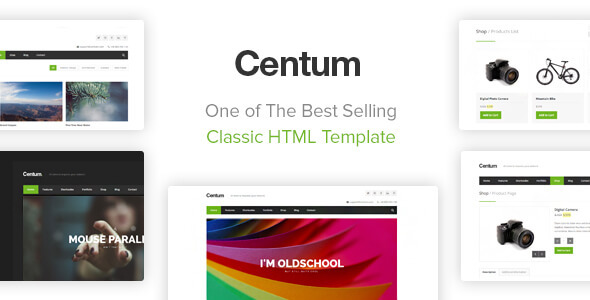 New Previews.  large preview - Centum - Responsive HTML Template