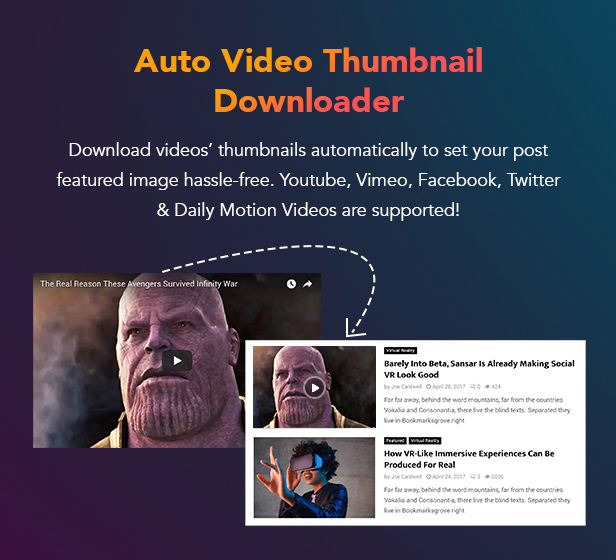 P23 AutoVideoDownload - PenNews - Multi-Purpose AMP WordPress Theme