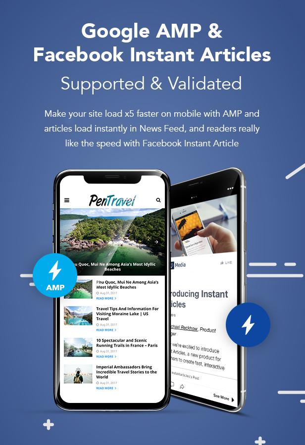 P4 AMP Facebook - PenNews - Multi-Purpose AMP WordPress Theme