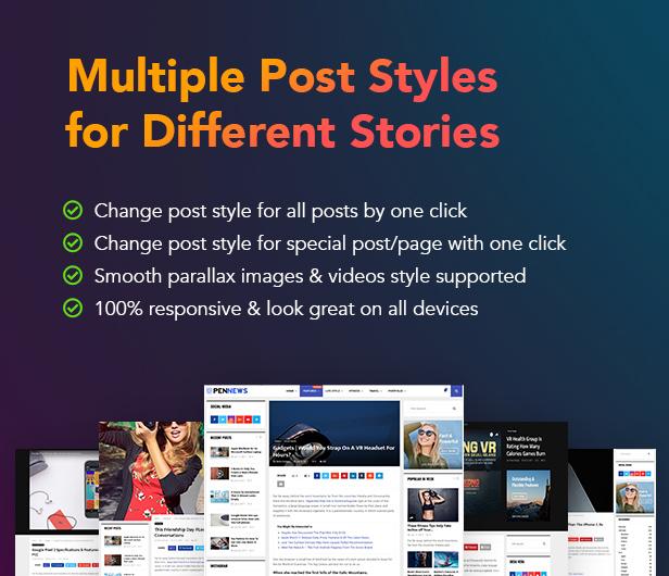 P7 PostLayouts - PenNews - Multi-Purpose AMP WordPress Theme
