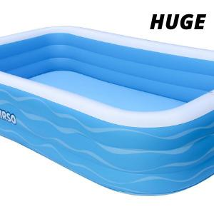 """a08ad844 a7da 44b1 8030 a0ab15270b2c.  CR0,0,300,300 PT0 SX300 V1    - Inflatable Swimming Pool Family Full-Sized Inflatable Pools 118"""" x 72"""" x 22"""" Thickened Family Lounge Pool for Toddlers, Kids & Adults Oversized Kiddie Pool Outdoor Blow Up Pool for Backyard, Garden"""