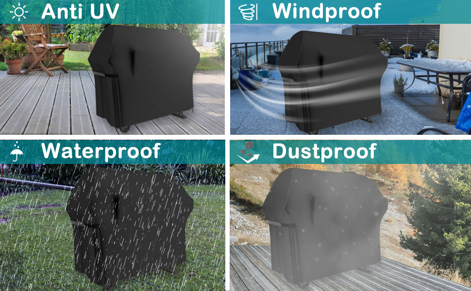 a17121d0 e43a 4480 affc d260884797c2.  CR0,0,970,600 PT0 SX970 V1    - Grill Cover 58 Inch BBQ Grill Cover Waterproof Gas Grill Covers, Heavy Duty Patio Outdoor Barbecue Grill Cover, Dustproof Windproof Anti UV and Tear Resistant