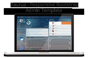 admin template3 - Taurus - Responsive Bootstrap Admin Template