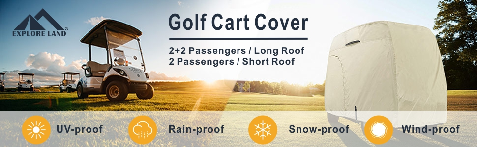 bd655e21 5410 4232 9f3a 917fdc40271a.  CR0,0,970,300 PT0 SX970 V1    - Explore Land 600D Waterproof Golf Cart Cover Universal Fits for Most Brand 4 Passenger Golf Cart