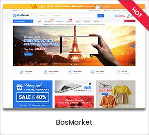 bosmarket - eMarket - Multi Vendor MarketPlace Elementor WordPress Theme (34+ Homepages & 3 Mobile Layouts)