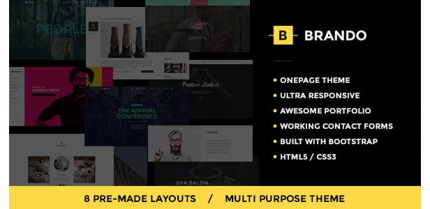brando multipurpose onepage template - H-Code Multipurpose OnePage & Multi Page Template
