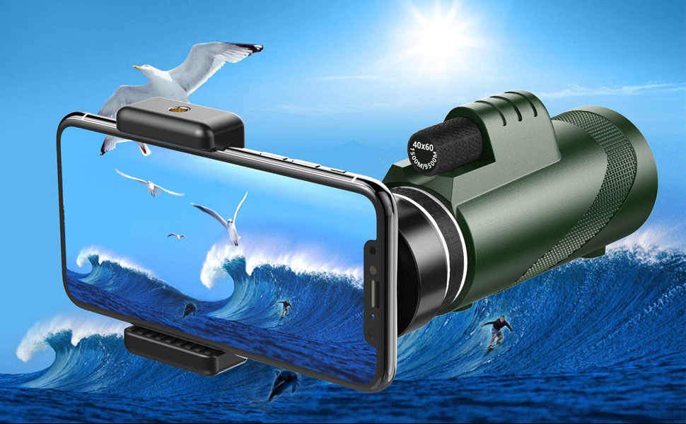 c510434c e1d8 486d 9944 ab627adbe1c6.  CR0,0,970,600 PT0 SX970 V1    - Pankoo 40X60 Monocular High Power Monocular Scope for Bird Watching Traveling Concert Sports Game with Phone Adapter Tripod