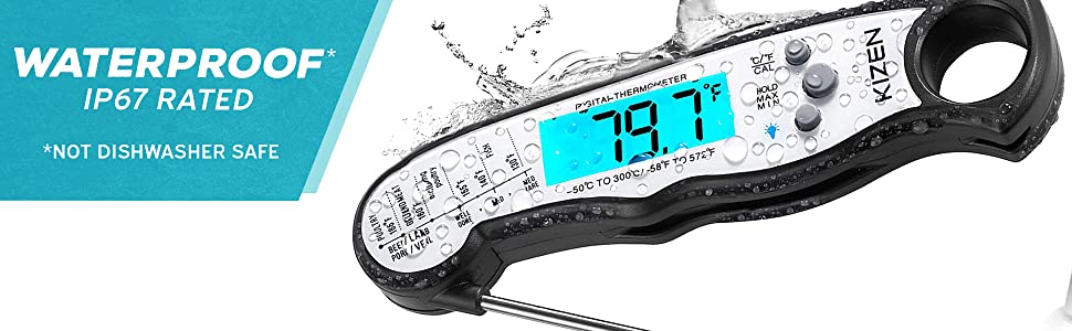 c9796d12 0678 4d97 b621 1f6bd8a96d48.  CR0,0,1940,600 PT0 SX970 V1    - Kizen Digital Meat Thermometers for Cooking - Waterproof Instant Read Food Thermometer for Meat, Deep Frying, Baking, Outdoor Cooking, Grilling, & BBQ (Red/Black)