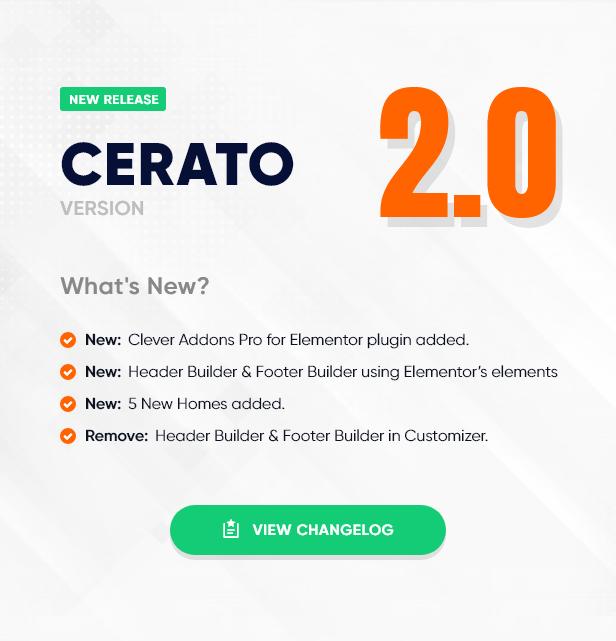 cerato ver 2.0 - Cerato - Multipurpose Elementor WooCommerce Theme