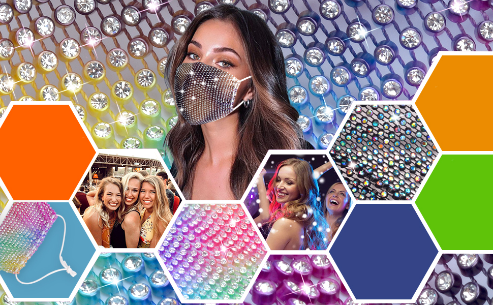 d7659b54 cf3a 4a5b 8a08 c2b1fbfc3260.  CR0,0,970,600 PT0 SX970 V1    - Sparkly Rhinestone Mesh Face Mask Masquerade Mask for Women Glitter Face Mask Bling Face Mask Christmas Party
