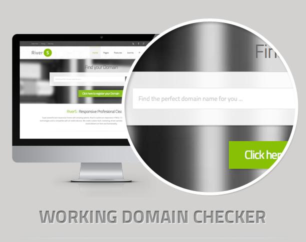 domainchecker - RiverS Responsive Multi-Purpose Joomla Template