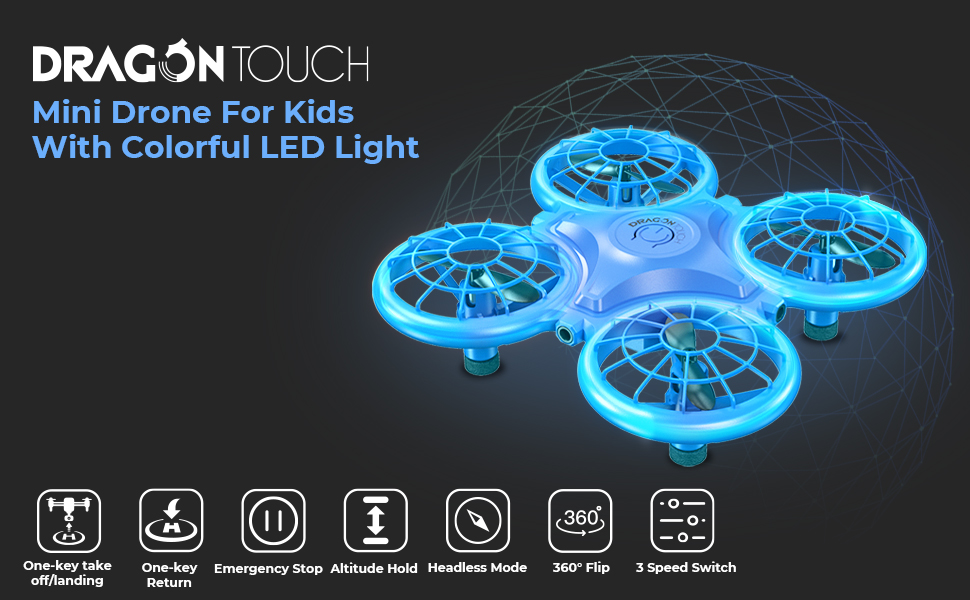 ebe2f75d b885 4afc a2f0 2fa45869fc29.  CR0,0,970,600 PT0 SX970 V1    - Dragon Touch DK01 Mini Drones for Kids, Multiple Remote Controls-Hand Operated RC Quadcopter, G-Sensor Mode, 3D Flips, Altitude Hold, Headless Mode, One Key Return&Speed Adjustment