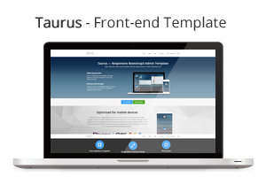 front end template - Taurus - Responsive Bootstrap Admin Template