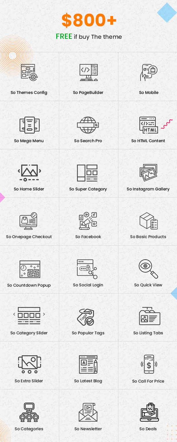 full feature - eMarket - Multi-purpose MarketPlace OpenCart 3 Theme (30+ Homepages & Mobile Layouts Included)
