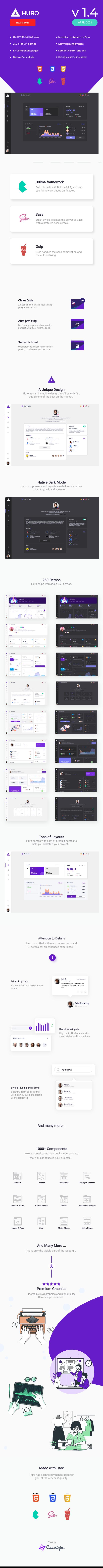 huro infographics 1.4 - Huro - Multipurpose Admin and Webapp UI Kit