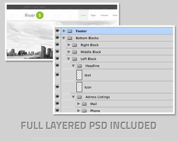 layered - RiverS Responsive Multi-Purpose Joomla Template