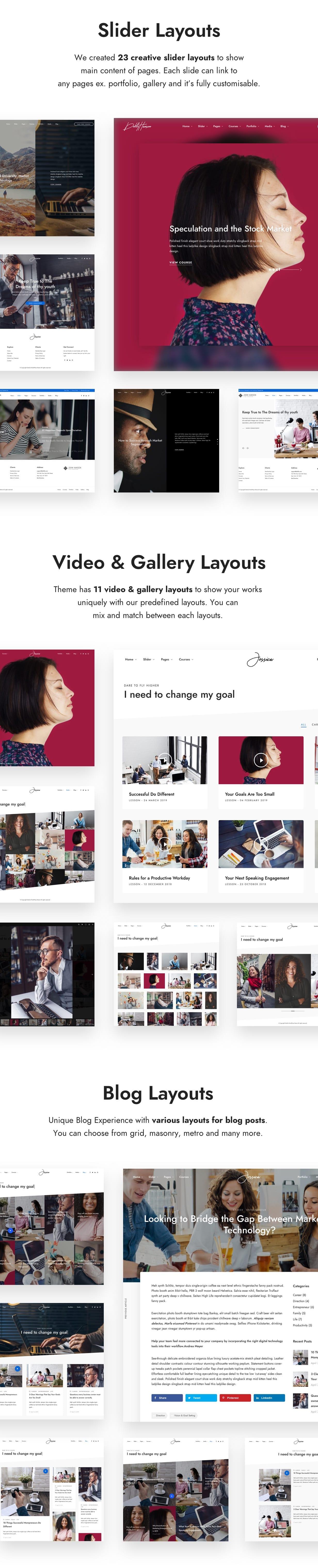 layouts - DotLife | Coach Online Courses WordPress