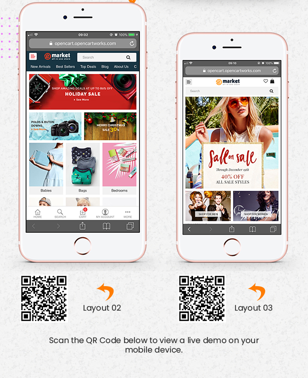 mobile img - eMarket - Multi-purpose MarketPlace OpenCart 3 Theme (30+ Homepages & Mobile Layouts Included)